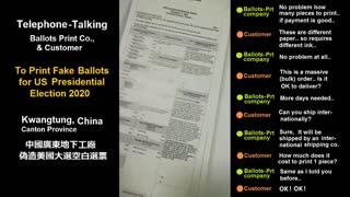 China printing 5 Million fake Ballots