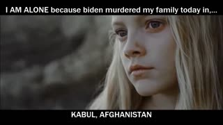 I AM ALONE because biden murdered my family today in,.. KABUL, AFGHANISTAN