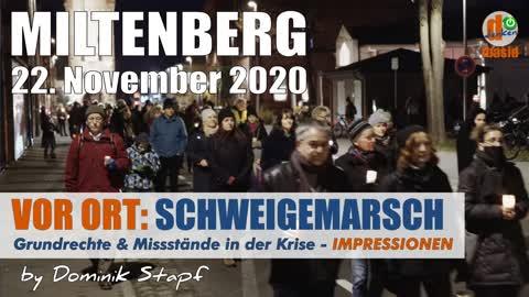 VOR ORT: Schweigemarsch Miltenberg 22.11.2020 - Gegen Missstände - Impressionen