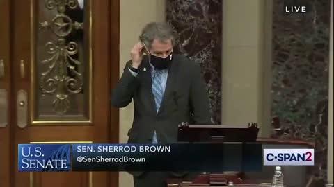 MASK SHOWDOWN: Sen. Sherrod Brown (D-OH) and Sen. Dan Sullivan (R-AK) square off over face masks
