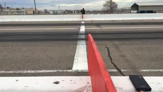 Car Finishes Race Sideways