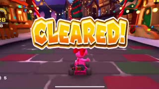 Mario Kart Tour - Clearing Baby Peach Cup Ring Race Challenge Gameplay