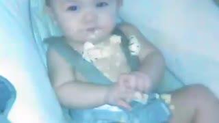 Baby loves cake