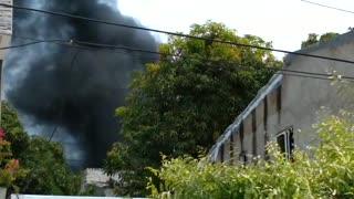 Incendio en casa de Kevin Flórez
