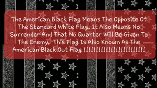 Black American Flags Going Up Around The Country