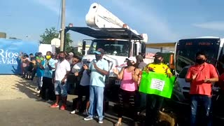 Protesta tenderos de Turbaco