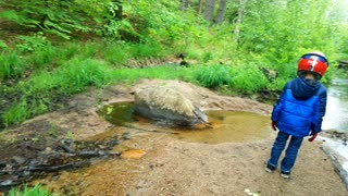 Found a stream while ATVing in New Hampshire