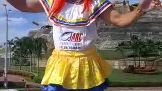 Leidy Vanessa, hincha de Colombia
