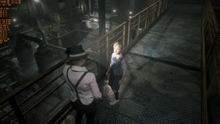 Resident Evil 2 Pt6 Claire knife fight G1+1 bullet, 49 fps