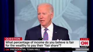 Biden's Brain BREAKS - Starts Whispering Again in Middle of Town Hall