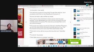 Luke John Bible Study: Mark 15, Part 1, Jesus before Pilate