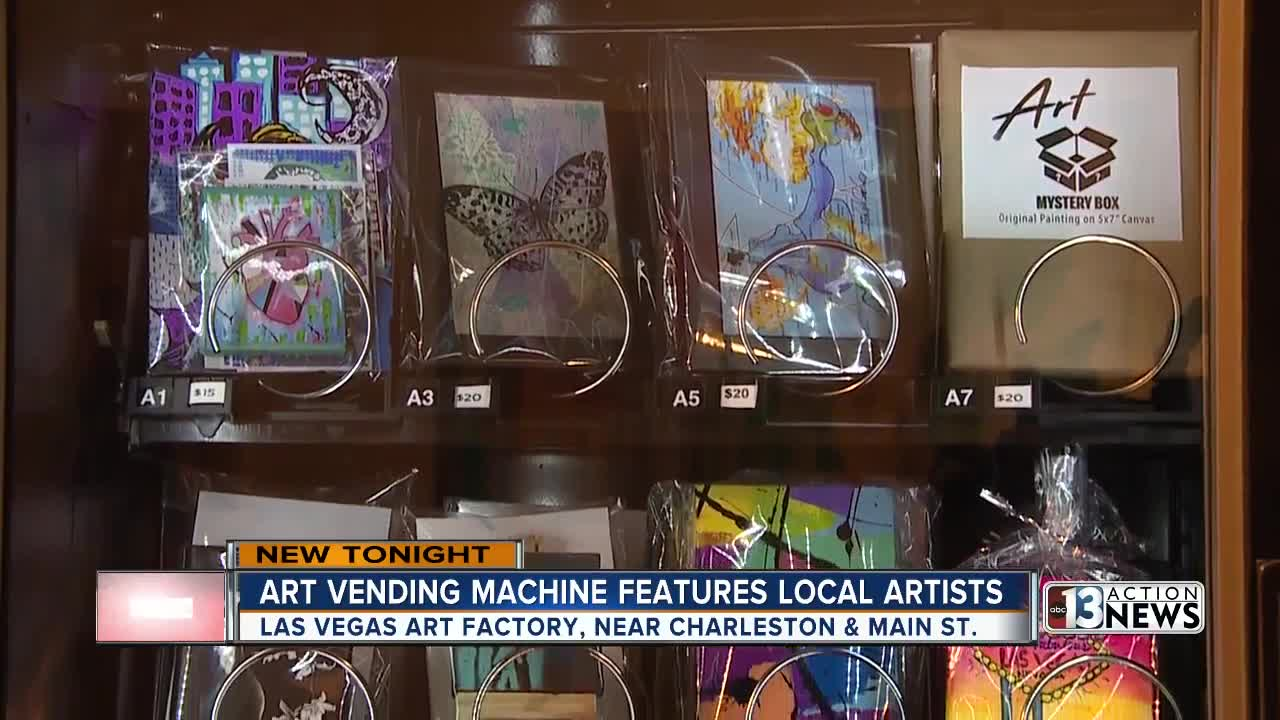 Downtown Las Vegas has new art vending machine
