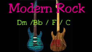Modern Rock Backing Track in Dm (example solo using the Cage method))