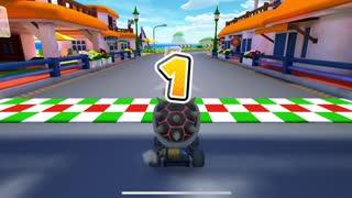 Mario Kart Tour - Clearing Baby Luigi Cup Challenge Break Item Boxes Gameplay