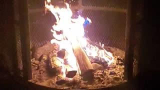 Wood fire slow motion
