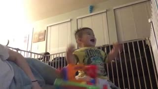 Baby Jay laughing
