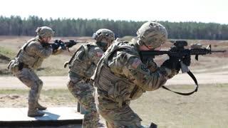 U.S. Army Soldiers Conduct Short-Range Rifle Training