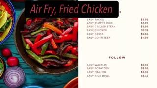 Fried Air fryer Chicken