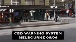 Warning System Test In Melbourne
