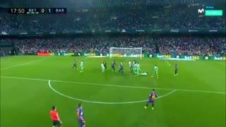 Gol de falta de Messi al Betis