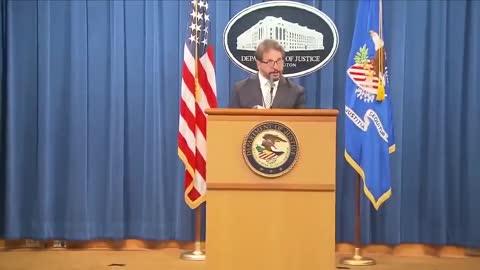 DOJ Official Puts On Mask Just The Walk To The Podium   The Washington Pundit