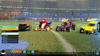 Rocket league with my cousins and bro