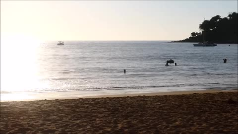 Sights and Sounds of Sunset at a Mexican Beach