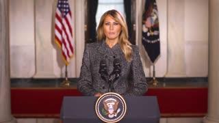 Melania Trump Gives Farewell Address