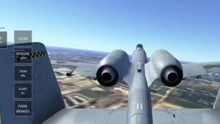 Flying A-10 in Infinite Flight Simulator
