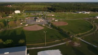 Baseball field in the afternoon