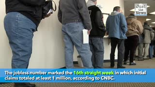 Feds report 1.3 million new jobless claims last week