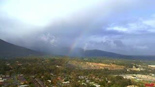 Rainbow over local Quarry