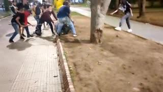 Fuerte agresión a un Policía en Bucaramanga