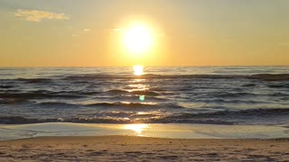 A moment of peace - the perfect beach sunset