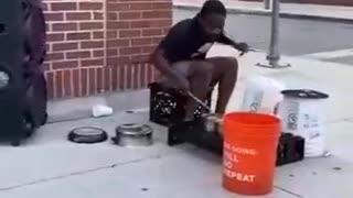 Street artist , Very talented