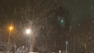 Snow storm here