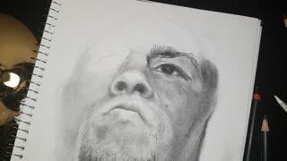 Nate Diaz Drawing Time Lapse 3