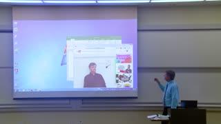 Funny April Fools Prank Math Professor Fixes Projector Screen