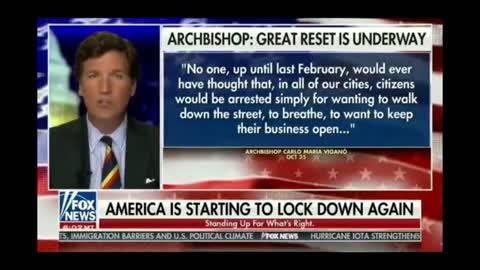 FULL SEGMENT: Tucker Carlson talks about the Globalist 'Great Reset' on mainstream media Fox News