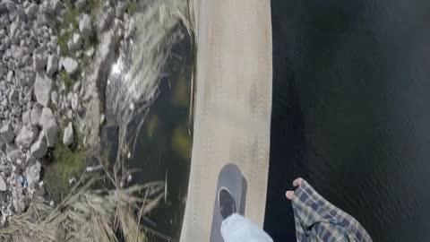 Daredevil pulls off jaw-dropping skateboard stunts