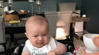 Trying Solid Food for the First Time