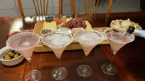 Lavender martinis