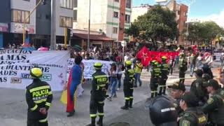 Avanza Marcha por el Paro Nacional en Bucaramanga