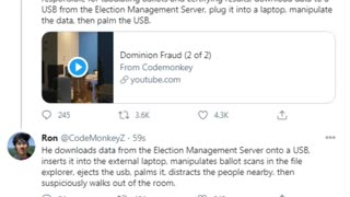 Gwinnett county election fraud video from @CodeMonkeyZ