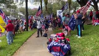 美國🇺🇸 CPAC場外 人們在迎接川普總統到來