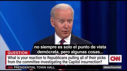 July 21st 2021: Biden Mentions QAnon and Blood Sucking at CNN Townhall (Spanish Subtitles)