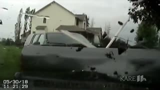 Truck Leads Police On A Rainy Muddy Pursuit... Pinned To A Tree..
