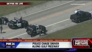 Houston High Speed Police Chase... Pick Up Truck... Standoff