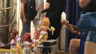 Dancing dolls music played in subway station