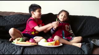 Kids learning about fruits